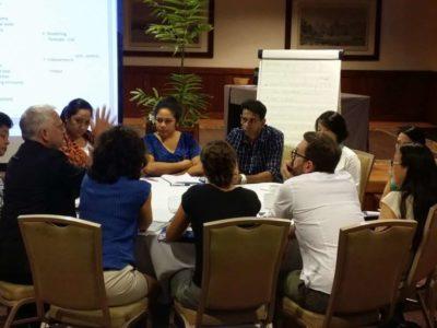« Table ronde » entre les partenaires d'organismes de recherche et de santé du Pacifique et d'Europe pour l'élaboration de programmes sur les arbovirus émergents dans la région (Workshop ILM - Programmes ISID-Pacific / R-ZERO Pacific, 2017, Tahiti) - © ILM
